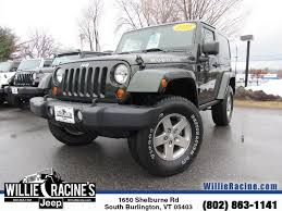 used jeep wrangler rubicon willie racine u0027s jeep vehicles for sale in south burlington vt 05403
