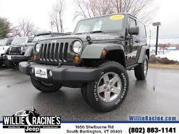 used jeep wrangler rubicon willie racine u0027s jeep vehicles for sale in south burlington vt 05403