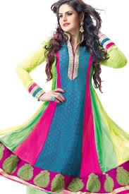 latest designer zarine khan anarkali suits collection 2013