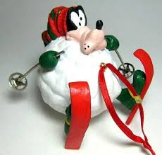 goofy skiing in snowball ornament from our collection
