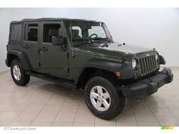 jeep unlimited green 2007 jeep green metallic jeep wrangler unlimited x 4x4 110697899