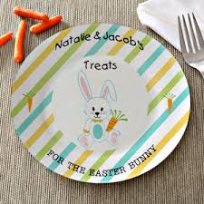 personalize plate personalized easter plate treats for the easter bunny
