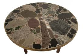 round stone top coffee table round stone table tops round designs