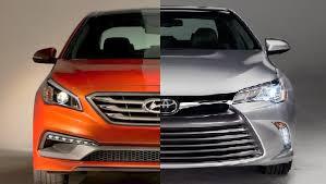 toyota camry hybrid vs hyundai sonata hybrid 2016 hyundai sonata vs toyota camry exterior interior and drive