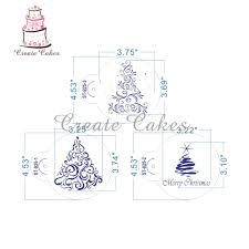 Stencil Albero by 6pcs Christmas Tree Cookie Stencils Fondant Cupcake Stencil Set