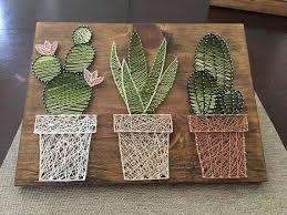 cactus home decor cactus garden string art suculent string srt home decor rustic