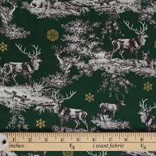 reindeer toile christmas fat quarter 100 cotton patchwork