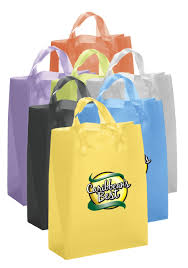 custom foil st frosted brite plastic shopping bags