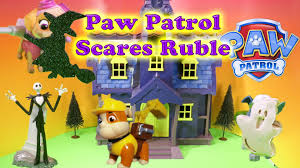 paw patrol nickelodeon paw patrol scares rubble paw patrol video