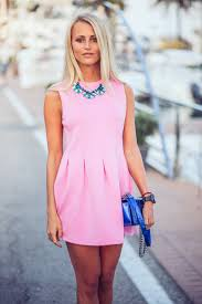 janni deler is wearing a pink pleated dress from choies shoes