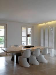dining room minimalist interior tuscany italy marble dining table