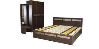bedroom set with vanity table buy tulip bedroom set queen bed wardrobe dressing table by crystal