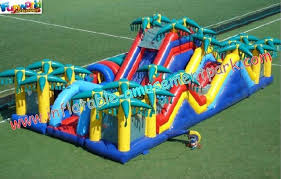 outdoor inflatables obstacle course tunnel