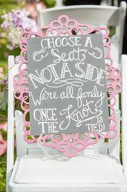 wedding seating signs 50 clever signs your wedding guests will bridalguide