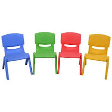 Set Of 4 Costzon Set Of 4 Plastic Chairs Stackable Play