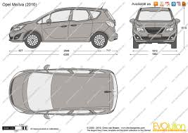 opel meriva 2017 the blueprints com vector drawing opel meriva