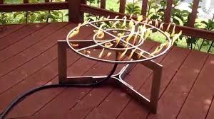 exterior diy fire pit propane design with redwood decking also