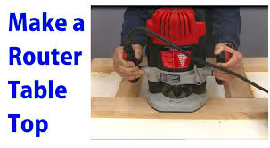 diy router table top how to make a router table top woodworking router series youtube