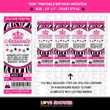ticket birthday invitations u2013 gangcraft net