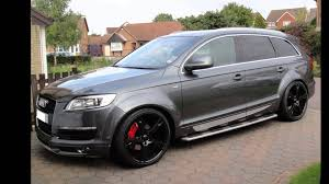 audi a7 modified lowered audi q7 youtube