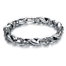 man silver link bracelet images Opk 925 sterling silver man bracelets handmade s design pure thai jpg