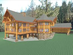 hawkeye 15281 sq ft luxury log home plans log cabin kit
