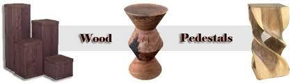 Wood Pedestal Stand Wood Pedestal Wooden Pedestals Wood Display Pedestals
