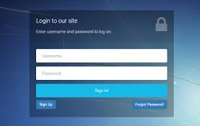 Template For Login Form by Bootstrap Login Registration Forgot Password Template