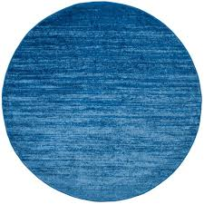 light blue round area rug safavieh adirondack light blue dark blue 8 ft x 8 ft round area