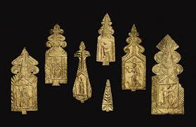 gold votive plaques from the ashwell treasure some inscribed to