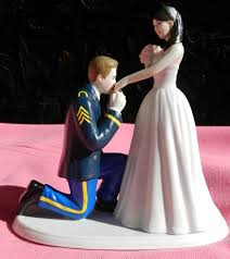 army wedding cake toppers us army soldier prince wedding cake topper kneel