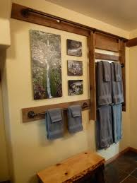 Bathroom Shelving Ideas For Towels Colors Bathroom Interesting Bathroom Towel Rack With Wooden And Metal