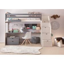 lit surélevé avec bureau chambre complete pour enfants ados avec lit mezzanine bureau et