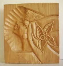 modern abstract carved wood sculpture 13 x 12 ebay