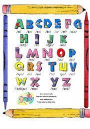 english teaching worksheets alphabet song pinterest