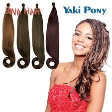 yaki pony hair styles crochet hair extension kanekalon jumbo braid 24inch yaki pony