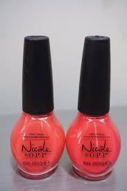 nicole by opi nail polish ni 489 lets coral it a night ebay