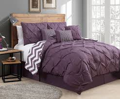 Plum Bed Set Avondale Manor 7 Venice Pinch Pleat Comforter