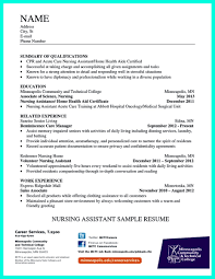 Sample Resume Objectives For Volunteer Nurse by Impress The Employer With Great Certified Nursing Assistant Resume