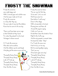 frosty the snowman lyrics have fun teaching