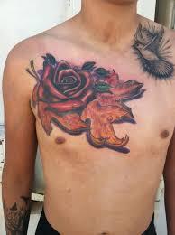 rose tattoo david meek tattoos
