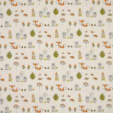 Blackout Nursery Curtains Uk by Woodland Curtain Fabric Multi Great Range Of Affordable Curtain