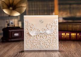 Pocket Wedding Invites Aliexpress Com Buy Laser Cut Lace Pocket Wedding Invitation