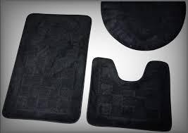 Black Bathroom Rug Black Bathroom Rugs For Your Home