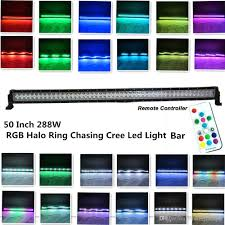 Led Light Bar 50 by 50inch 288w Cree Led Light Bar Halo Ring Rgb Chasing By Remote