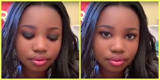 12 year old makeup artist black smokey eye with glitter makeup tutorial you