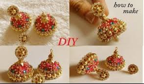 how to make jhumka earrings how to make designer silk thread bridal jhumka earrings at home
