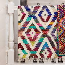 Boho Rugs Baku Diamond Kilim Chindi Rug Products Rugs And India