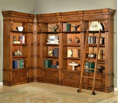 Library Bookcases With Ladder by Bookcase Corner Library Bookcase Wall Units Corner Bookshelf