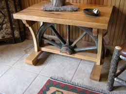 Wagon Wheel Coffee Table by Wagon Wheel End Table 745 00 Montana Furniture And Mercantile